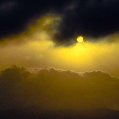 Sunset Dark Light Cloud Golden Hour