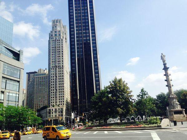 Blue Sky Building New York New York City Newyork Newyorkcity Road Tree Yellow Color