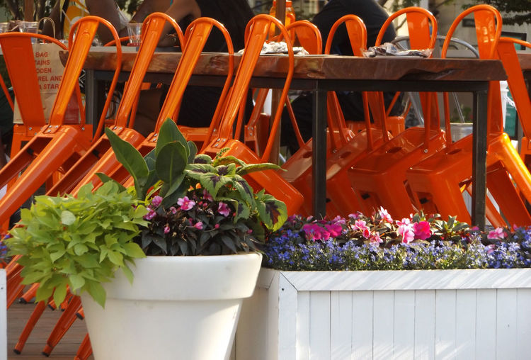 Chairs And Tables Chairs With Personality Chairs Outdoors Orange Chairs Seating Corpus Martius Detroit MichiganBeautifully Organized Capture Tomorrow