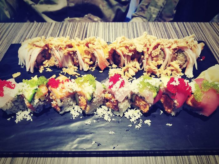 Lunch time Sushi Roll California Rolls