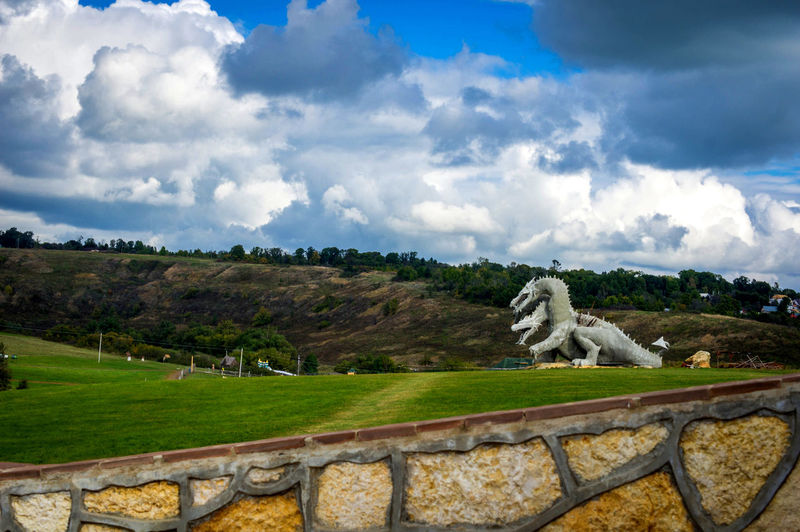Cloud - Sky Concrete Day Dragon Grass Great Great Outdoors Green Color Huge Lipetsk Region STATELY SCULPTURE