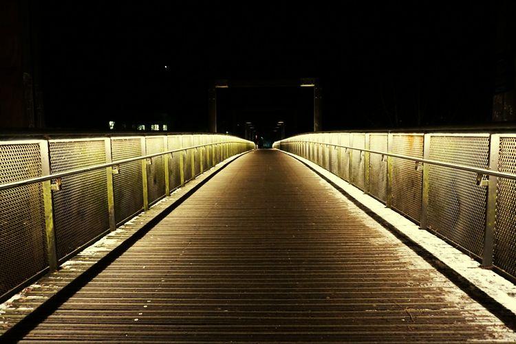 Hirsefeldsteg Bridge Nightphotography The Way Forward No People Night Outdoors First Eyeem Photo