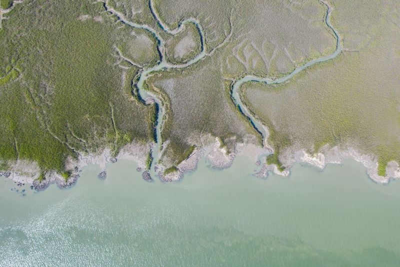 Aerial view o sea