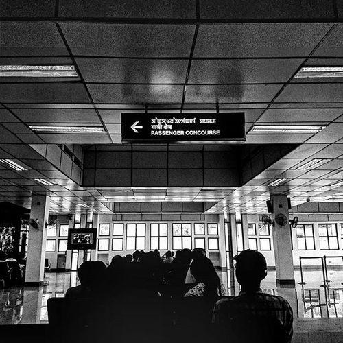 Summer's over. Leaving home. Waiting Blackandwhite Airport Hiimphalbyeimphal Bored Hidelhi