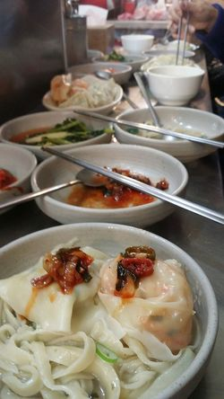 Mandu Dumplings Kimchi Filling Meat Filling Foodphotography Kwang Jang Market Jogno-gu Seoul South Korea Seoulspring2017