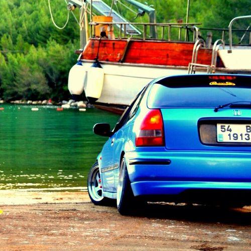 Honda Civic Spoon JDM Cars Aem Flatcars Blue Relax Mycar<3