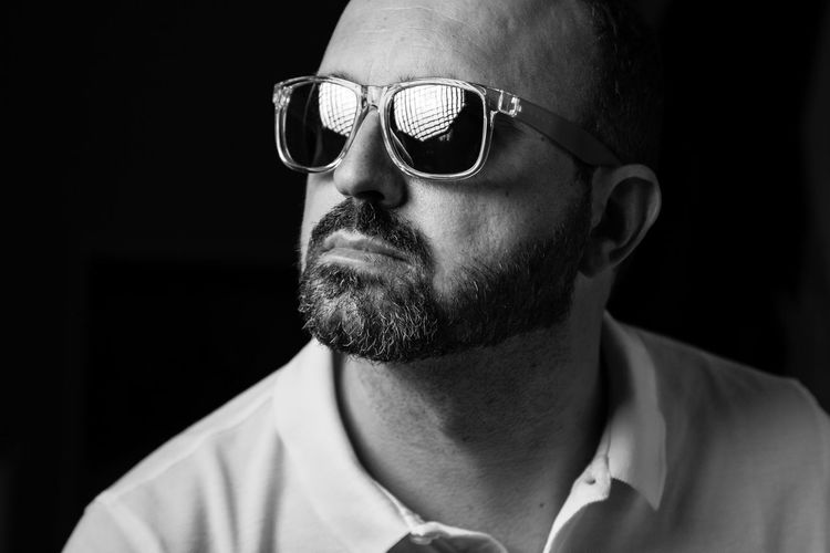 The beard! Beard Black Background Close-up Facial Hair Fashion Focus On Foreground Front View Glasses Headshot Human Face Indoors  Lifestyles Males  Men Mid Adult Mid Adult Men One Person Portrait Real People Sunglasses Young Men