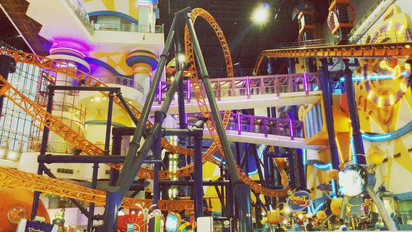 Roller coaster in a mall. Becausewhynot