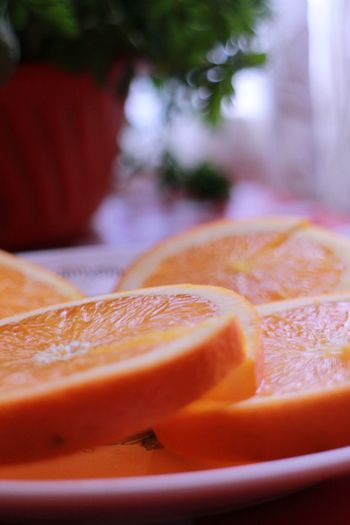 Blood Orange Grapefruit Fruit Citrus Fruit SLICE Defocused Healthy Lifestyle Close-up Food And Drink Sweet Food Orange - Fruit Vitamin C Juicy
