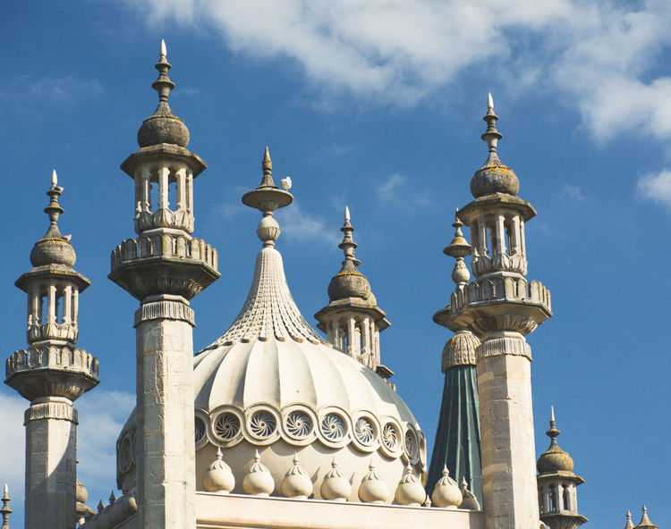 Architecture Brighton Brighton Royal Pavilion Brighton Uk City Day Dome Low Angle View No People Outdoors Place Of Worship Religion Royal Pavilion Royal Pavilion Gardens Sky