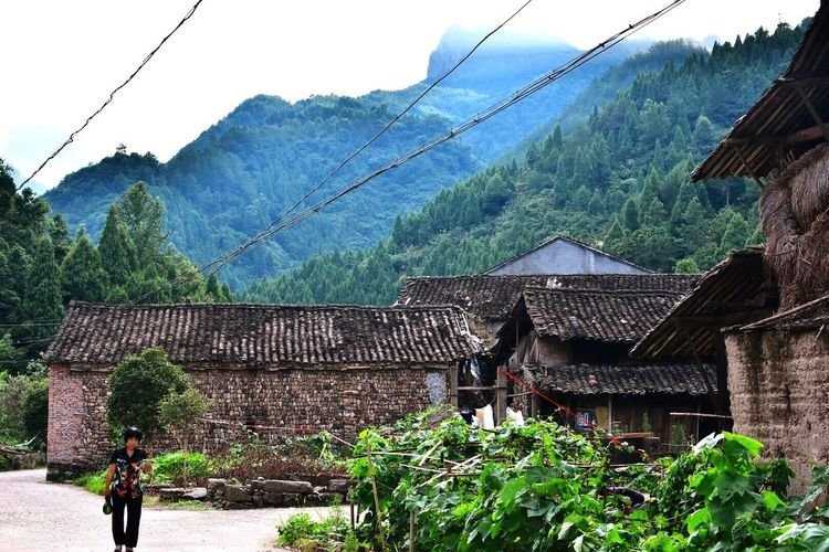 Zhejiang,China Old Village Nature Mountains Chinese On The Way