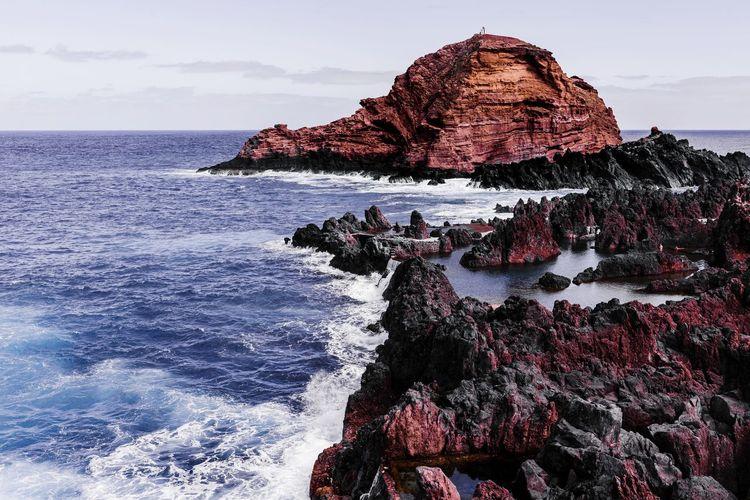 The sea swimming pool of porto moniz madeira island