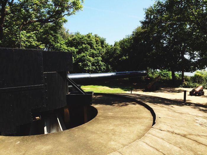 WW 2 Gun at Trinco Navy HQ