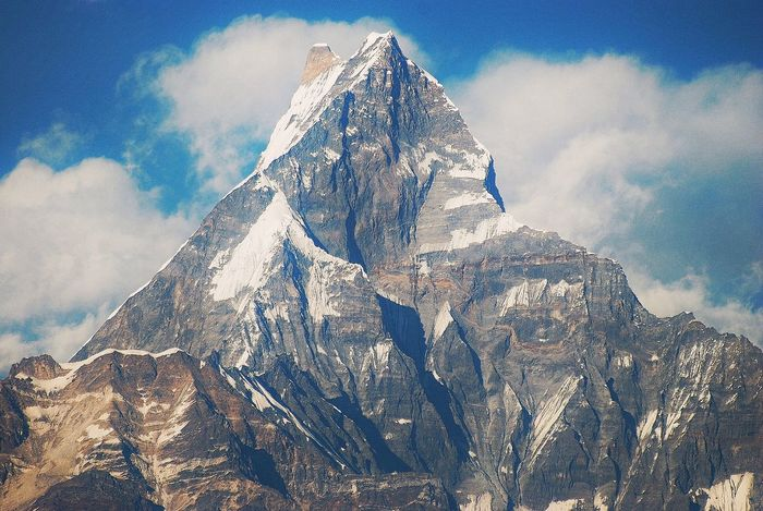 Mountain Annapurna Machapucharé Close-up Outdoors No People Nepal Nature Photography Spiritual Himalayas