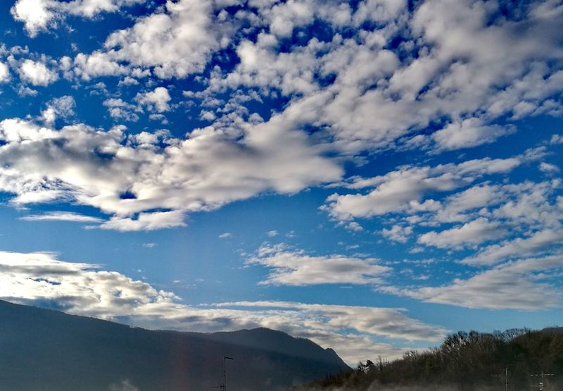 Mountain Blue Beauty Tree Sky Cloud - Sky Landscape