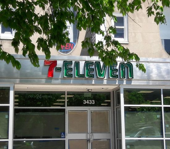 7-ELEVEN , Store, Architecture Outdoors Tree No People Day Building Exterior City, Street