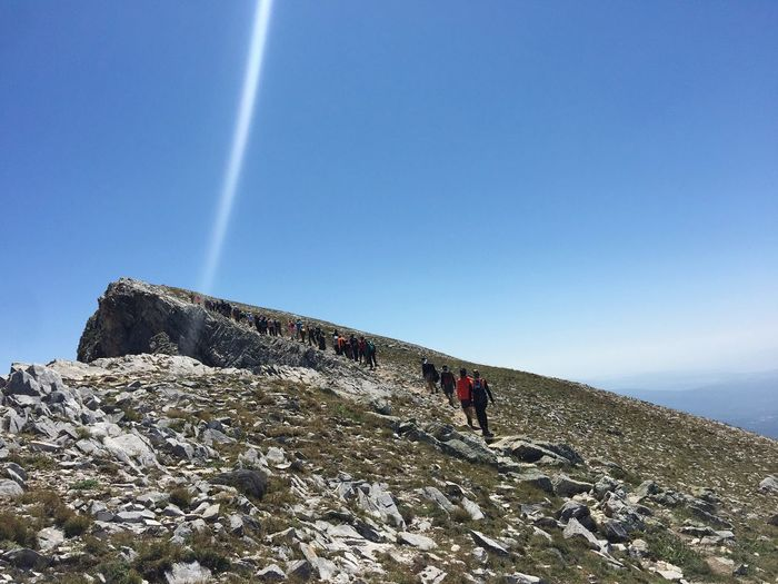 ULUDAĞ, 2543 m Trekking Uludag Climbing Vapor Trail Clear Sky Extreme Sports Adventure Awe Mountain Astronomy Sunlight Rock - Object Mountain Climbing Mountain Peak Hiking EyeEmNewHere