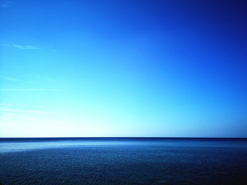 Silence Nopeople Water Sea Clear Sky Blue Beach Horizon Sky Horizon Over Water Infinity Seascape