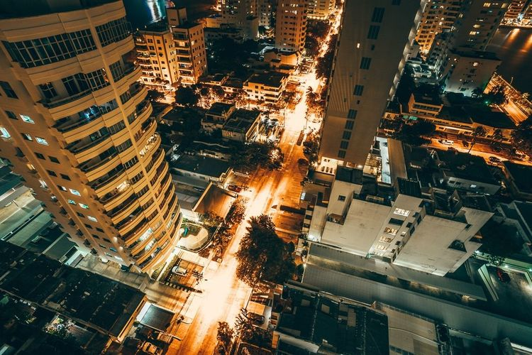 Electric nights in Cartagena. Urban EyeEm Best Edits EyeEm Best Shots Neon Lights Creative City Building Exterior Architecture Cityscape Built Structure Building Illuminated Street Night High Angle View City Life Road City Street Skyscraper Modern The Great Outdoors - 2018 EyeEm Awards #urbanana: The Urban Playground