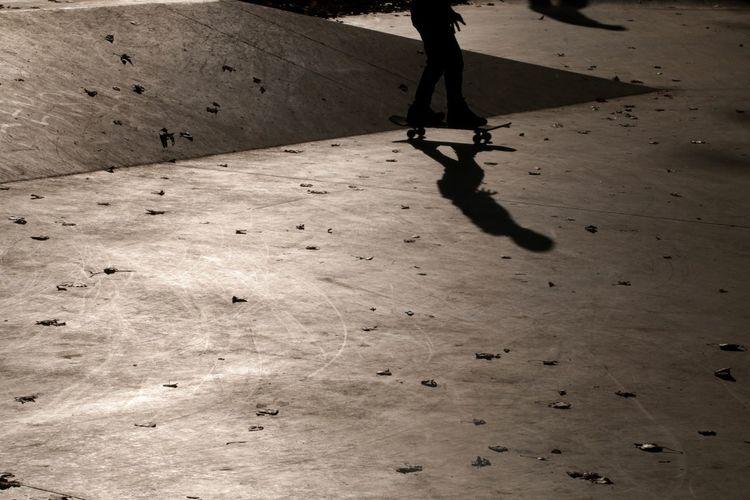 Skater Skateboarding Skateboard Park Light And Shadow Low Section Shadow Human Leg Focus On Shadow Long Shadow - Shadow Silhouette Skate Photography: Same Tricks, New Perspectives