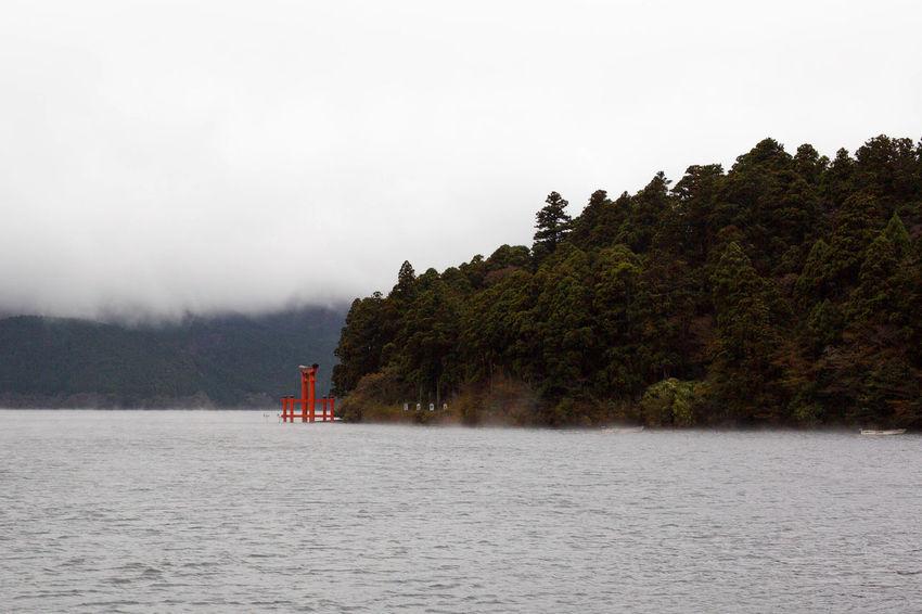 Hakone Shrine Lake Ashi japan