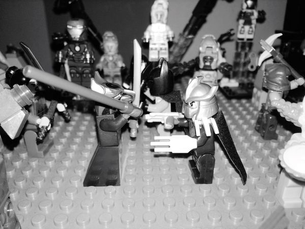 LEGO Legophotography TMNT🐢 Teenage Mutant Ninja Turtles  Blackandwhite