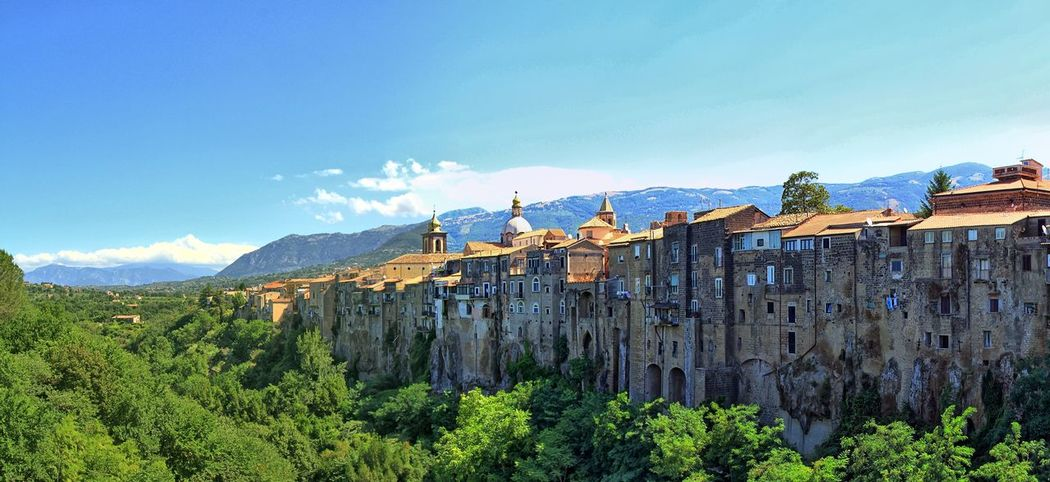 Fortified town of Sant'Agata de Goti in Campania, Italy Architecture Beauty In Nature Campania Day Fortification Fortifications Italy Mountain Mountain Range Nature No People Outdoors Ravine Saint Agatha De Goti Sant'agata Sant'Agata De' Goti Sky Tree Unique Wall