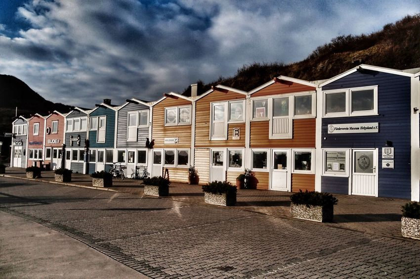 Hummerbuden, Helgoland Cloud - Sky Sky Building Exterior Architecture Built Structure House Outdoors No People Residential Building Day City Helgoland Hummerbuden Travel Destinations Weltblick Eye4photography
