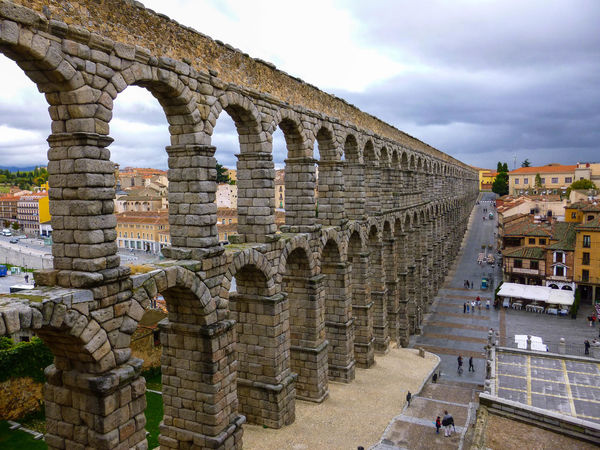 Acueducto Acueducto-Segovia Ancient Ancient Civilization Ancient History Aqueduct Aqueductofsegovia Architecture Building Exterior Built Structure Day España History Old Ruin Outdoors Roman Romano Segovia Sky Tourism Travel Destinations