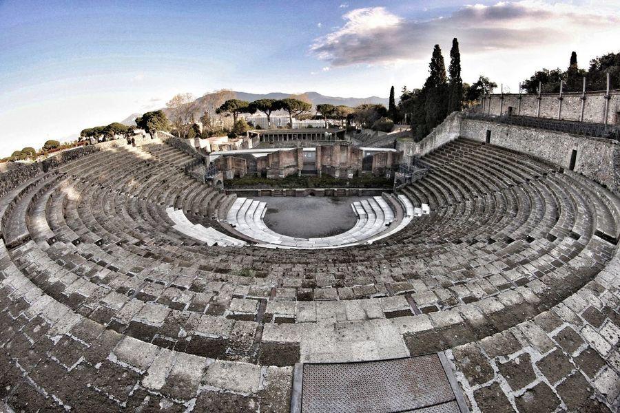 Pompeii Ruins History Architecture Teatro Romano Pompeiscavi Pompei Scavi Ancient Civilization Roman Ruins Built Structure Outdoors BYOPaper!