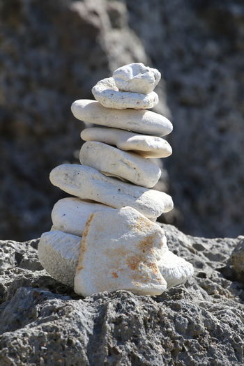 Balance Close-up Day Focus On Foreground Meditation No People Outdoors Pile Of Stones Rock - Object Stack Sunlight Zen