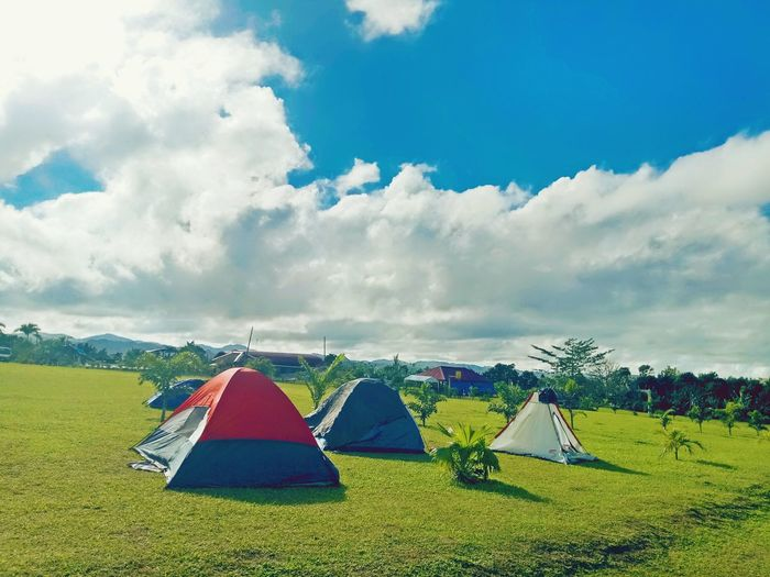 camped all the way! EyeEm Selects Outdoors Cloud - Sky Day Summer Landscape Grass Nature