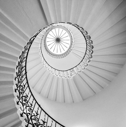 Architecture Black And White Concentric Greenwich Historic London Low Angle View Queen's House Queens House Railing Spiral Spiral Staircase Spiral Stairs Staircase Steps And Staircases Tulip Staircase Tulip Stairs EyeEm LOST IN London Black And White Friday