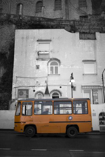 Bus Ride. Bus Yellow Capri Italy