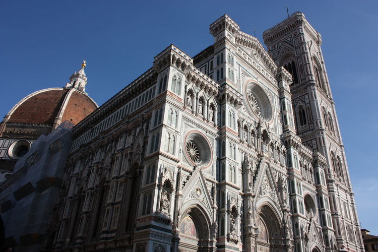Marble monument of the duomo of milan