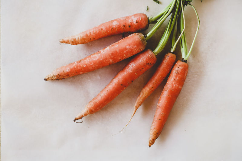 Carrots Close-up Day Food Food And Drink Freshness Healthy Eating High Angle View Indoors  No People Raw Food Vegetable White Background