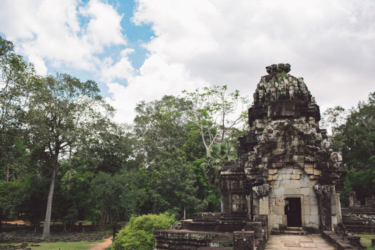 Siem Reap Cambodia Angkor Tree Sky Built Structure Plant Architecture Place Of Worship Religion Belief Cloud - Sky Ancient The Past Day History Spirituality No People Travel Travel Destinations Nature Ancient Civilization Outdoors Archaeology