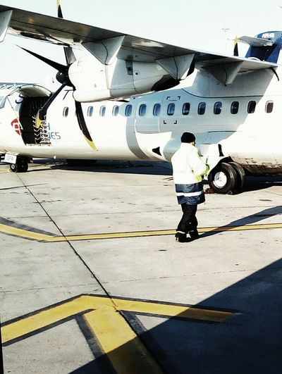 Airplane Transportation Airport Runway Propeller Airplane Prop Plane Tarmac Plane Boarding A Plane