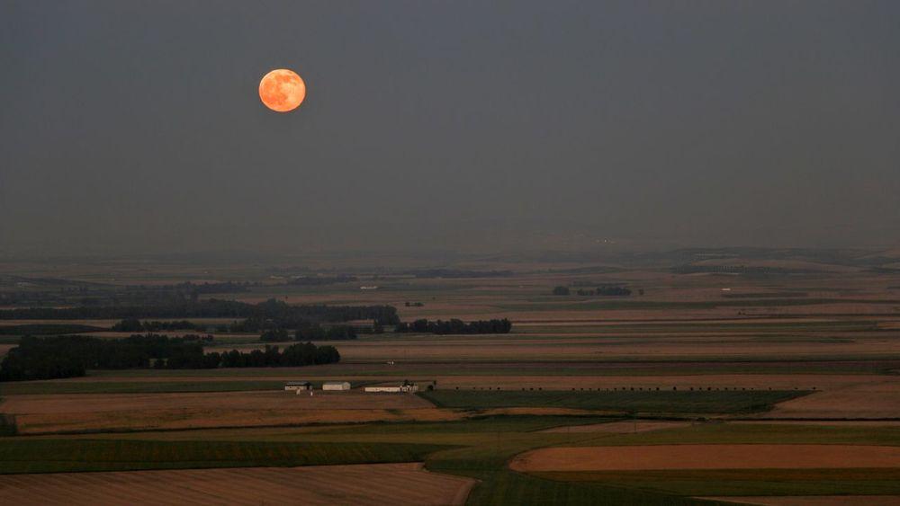 Sevilla Carmona  Luna SPAIN Andalucía Luna Llena Parador De Carmona Moon Full Moon Moon Rising Moonrise Landscape Canon 70d