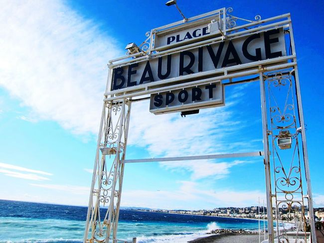 Beau Rivage Nice / Nizza France Cloud - Sky Sky Outdoors Sea Water Day No People Beach Private Beach Gate Art Deco Style