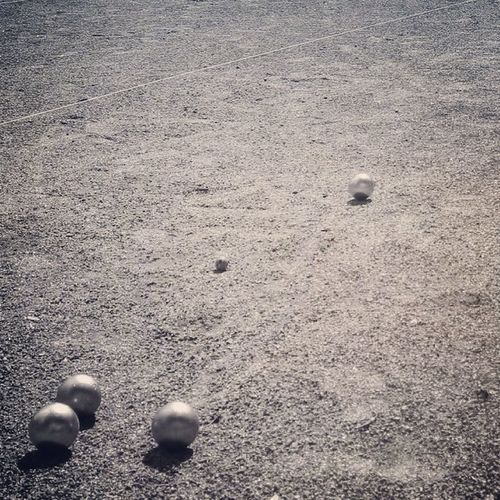 Petanque Boule La Franc Black And White