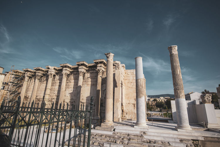 Athens Athens Greece Athens, Greece Sky Architecture Built Structure Architectural Column History The Past Ancient Nature Cloud - Sky No People Building Exterior Day Travel Destinations Low Angle View Old Ruin Travel Tourism Ancient Civilization Place Of Worship Religion Outdoors Archaeology Colonnade Ruined