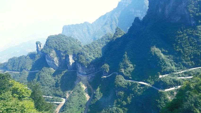 Tianmen Mountain New legend of beautiful Zhangjiajie Tianmen Mountain Tianmenshan Zhangjiajie SoulofWuling Outdoors Beauty In Nature Mountain Range Mountain Sky Tourism Physical Geography Photography Hunan China