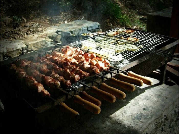 ? BBQ Souvlaki Food Photography Cypriot