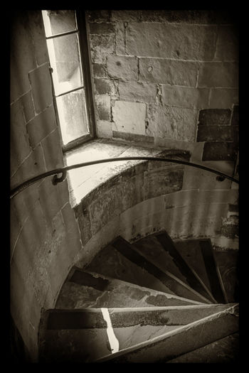 Staircase Steps And Staircases Indoors  Built Structure Steps Architecture No People Black & White Blackandwhite Ancient History Architecture Scenics