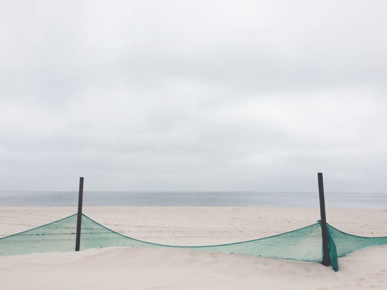 Beach on overcast day