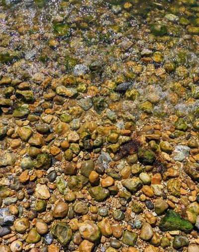 Full frame shot of rocks in water