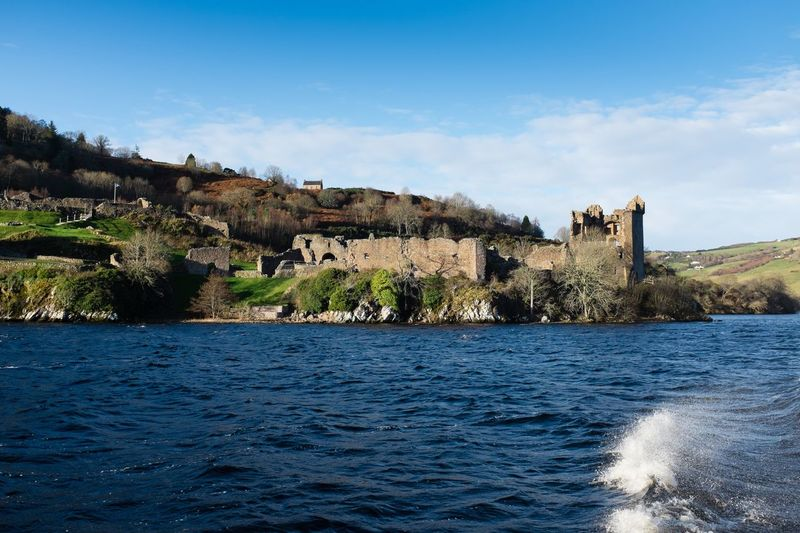 Urquhart Castle on a stunning fresh day from Loch Ness. Castle UrquhartCastle Inverness Loch Ness Scotland Landscape The EyeEm Facebook Cover Challenge Loch  Water Fuji X100s