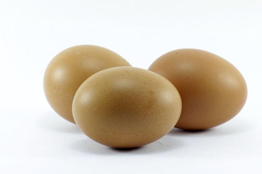Eggs isolated on white background Eggs Isolated On White Background Close-up Healthy Eating No People Studio Shot White Background