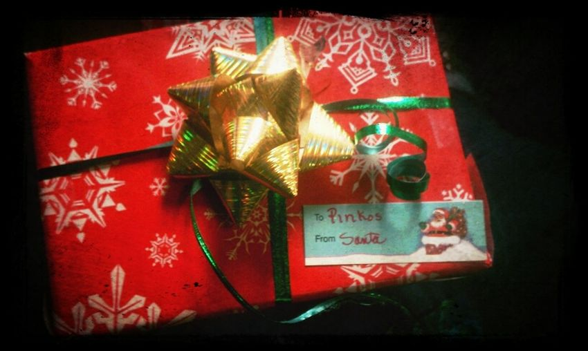 First Christmas Present! From Mike! I Mean Santa! He Got Out Shopping At His House
